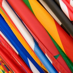 bandiere tessuto robermap