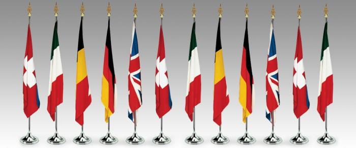 Basi e aste per interni robermap bandiere - Bandiere da tavolo e basi ...